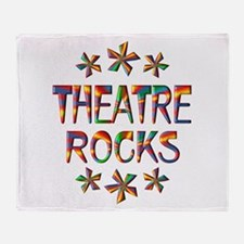 Theatre Rocks Throw Blanket