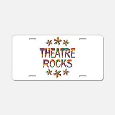 Theatre Rocks Aluminum License Plate