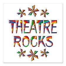 "Theatre Rocks Square Car Magnet 3"" x 3"""