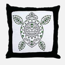 Maori Turtle Styl 1 Throw Pillow