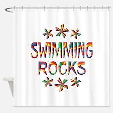 Swimming Rocks Shower Curtain