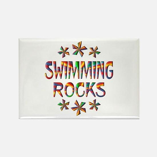 Swimming Rocks Rectangle Magnet