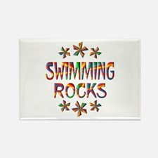 Swimming Rocks Rectangle Magnet (10 pack)