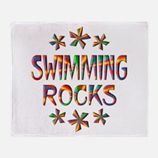 Swimming Rocks Throw Blanket