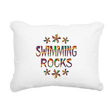 Swimming Rocks Rectangular Canvas Pillow