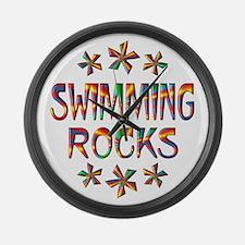 Swimming Rocks Large Wall Clock