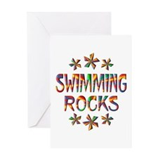 Swimming Rocks Greeting Card
