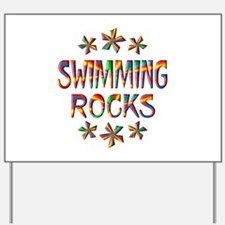 Swimming Rocks Yard Sign