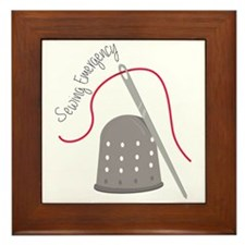 Sewing Emergency Framed Tile
