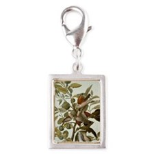 Audubon Ground Dove Silver Portrait Charm