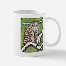 """Barred Owl In Winter"" Mugs"
