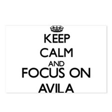 Keep calm and Focus on Av Postcards (Package of 8)