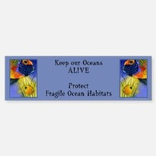 Beautiful Ocean Fish Bumper Bumper Bumper Sticker