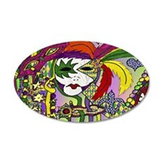 Mardi Gras Feather Masks Wall Decal