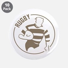 """Classic Rugby 3.5"""" Button (10 pack)"""