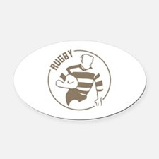 Classic Rugby Oval Car Magnet