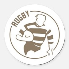 Classic Rugby Round Car Magnet