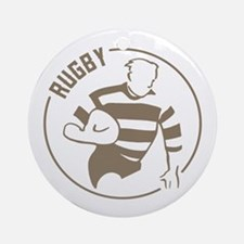 Classic Rugby Ornament (Round)