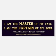 """Master of My Fate"" Bumper Bumper Bumper Sticker"