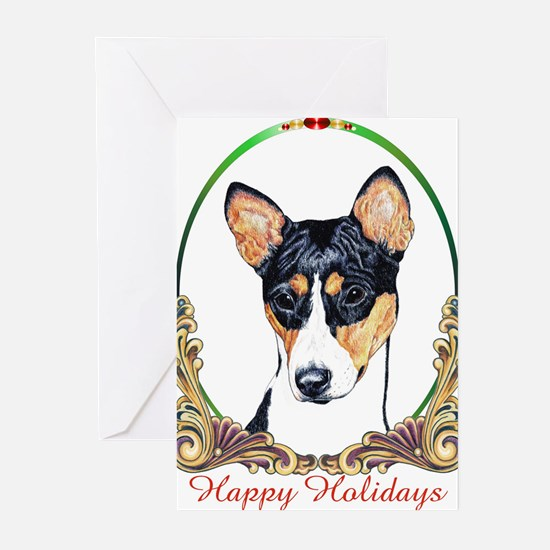 Cute Basenji art Greeting Cards (Pk of 20)