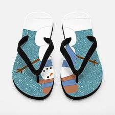 Snowman in Snow Flip Flops