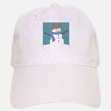 Snowman in Snow Baseball Baseball Baseball Cap