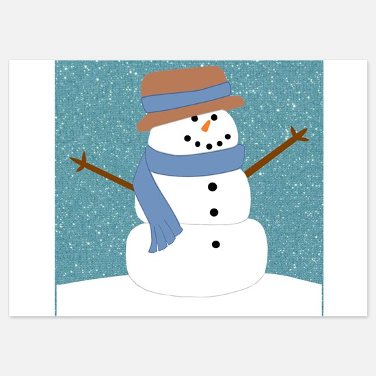 Snowman in Snow Invitations