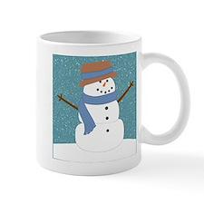Snowman in Snow Mugs