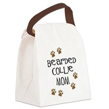 Cute Collie mom Canvas Lunch Bag