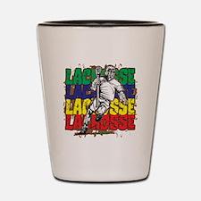 Lacrosse Action Shot Glass