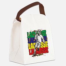 Lacrosse Action Canvas Lunch Bag