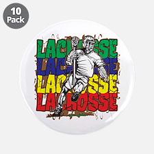 "Lacrosse Action 3.5"" Button (10 pack)"