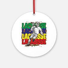 Lacrosse Action Ornament (Round)