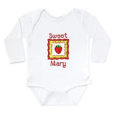 Unique Strawberry Long Sleeve Infant Bodysuit