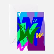 Initial Design (W) Greeting Cards