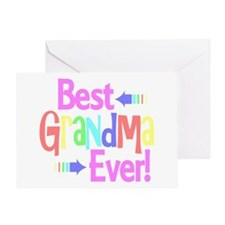 Best Grandma Ever Greeting Cards
