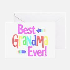 Best Grandma Ever Greeting Cards
