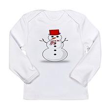 Cute Snowman Long Sleeve T-Shirt