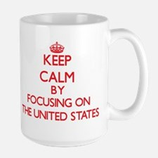 Keep Calm by focusing on The United States Mugs