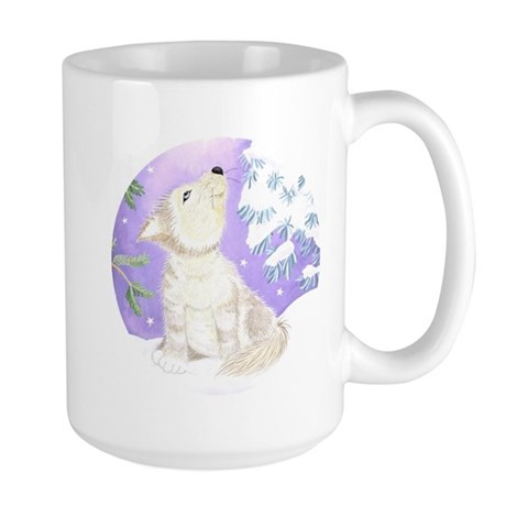 Wolf Cub in Snow Large Mug