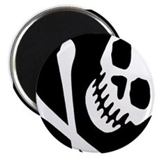 "CROSSBONES 2.25"" Magnet (100 pack)"