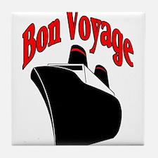 Bon Voyage, Cruise Travel Tile Coaster