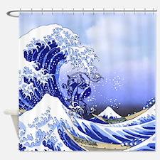 Monogram P Surf's Up! Shower Curtain