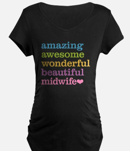 Awesome Midwife Maternity T-Shirt
