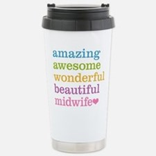 Awesome Midwife Stainless Steel Travel Mug