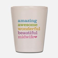 Awesome Midwife Shot Glass