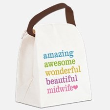 Awesome Midwife Canvas Lunch Bag