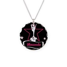 Pink and Black Cheerleader Necklace