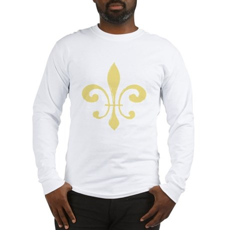 Fleur De Lis Tan Long Sleeve T-Shirt