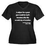 Nietzsche 26 Women's Plus Size V-Neck Dark T-Shirt
